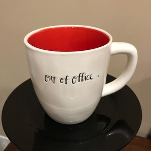NEW Rae Dunn Script OUT OF OFFICE Mug - Red